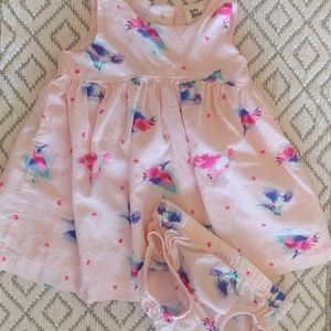 Infant girl hummingbird dress